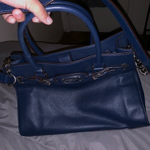 Blue Michael Kors purse- used twice only